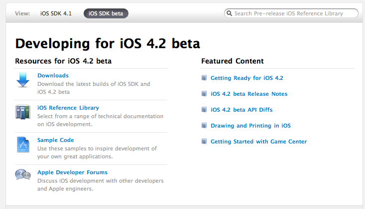 Apple Releases iOS 4 2 Beta 1 - MacStories