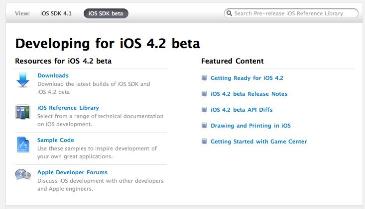 Apple Releases iOS 4 2 Beta 1 – MacStories