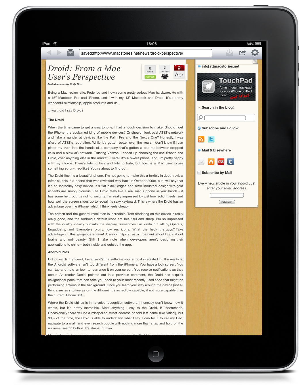 Offline Pages for iPad: Simple and Free Offline Reading