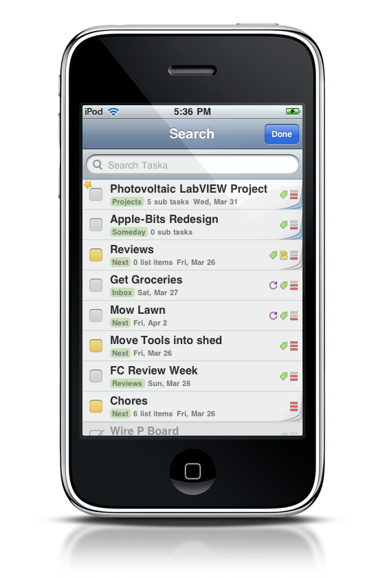 Taska, A Beautiful GTD App for your iPhone  Review and